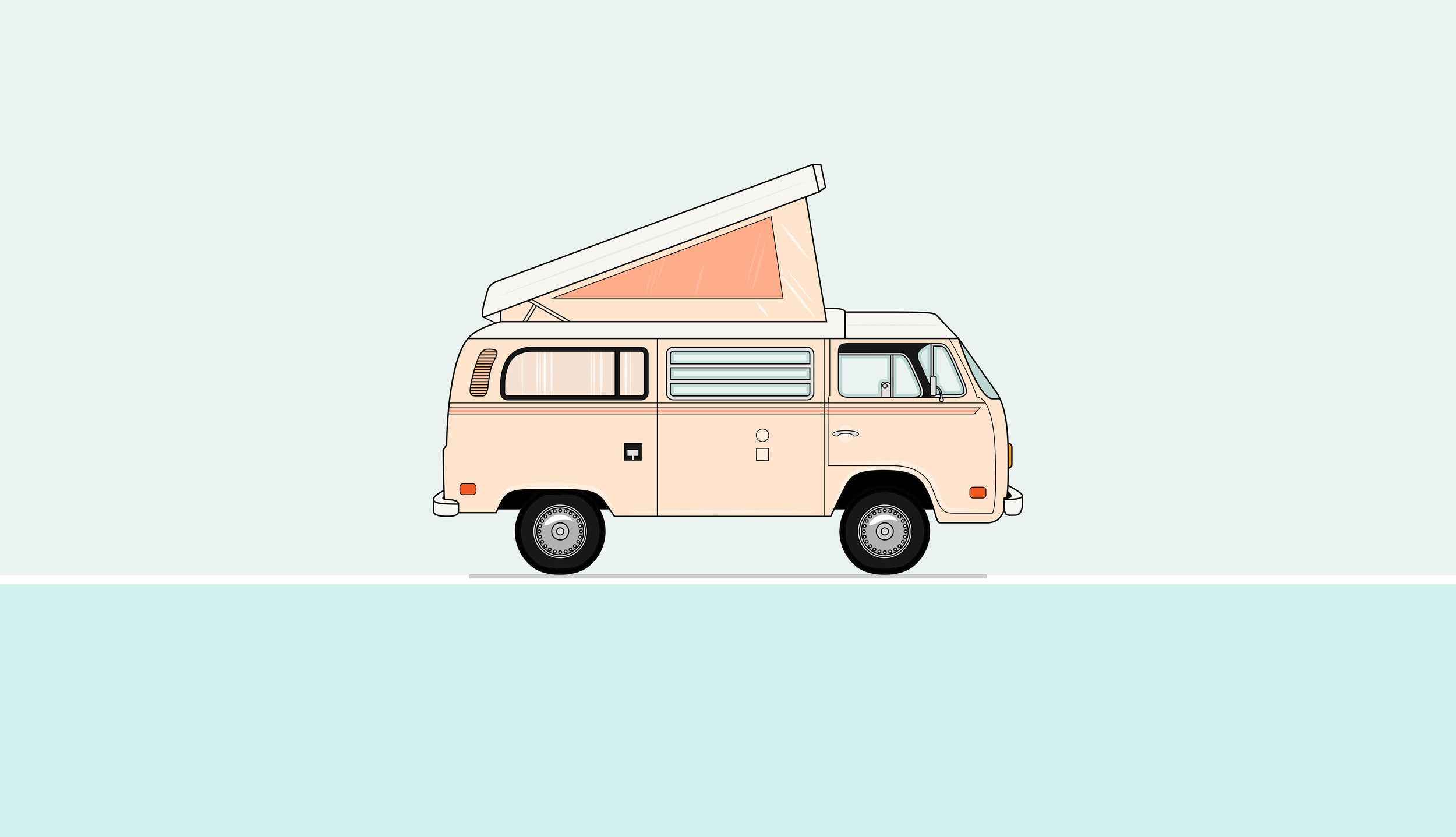 VW Bus Illustration | Akula Kreative