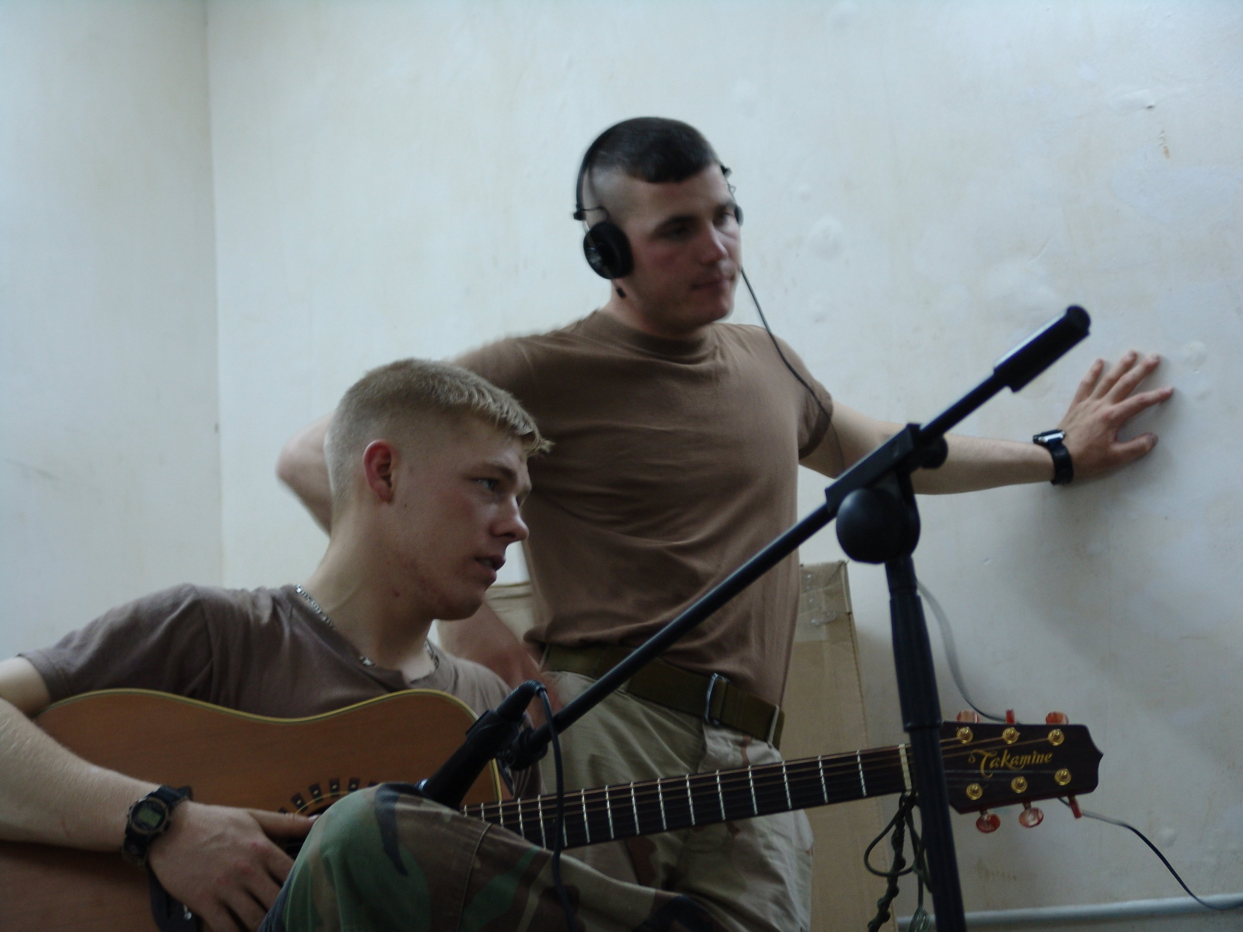 Joshua Revak and Trenton Dull Iraq studio.JPG