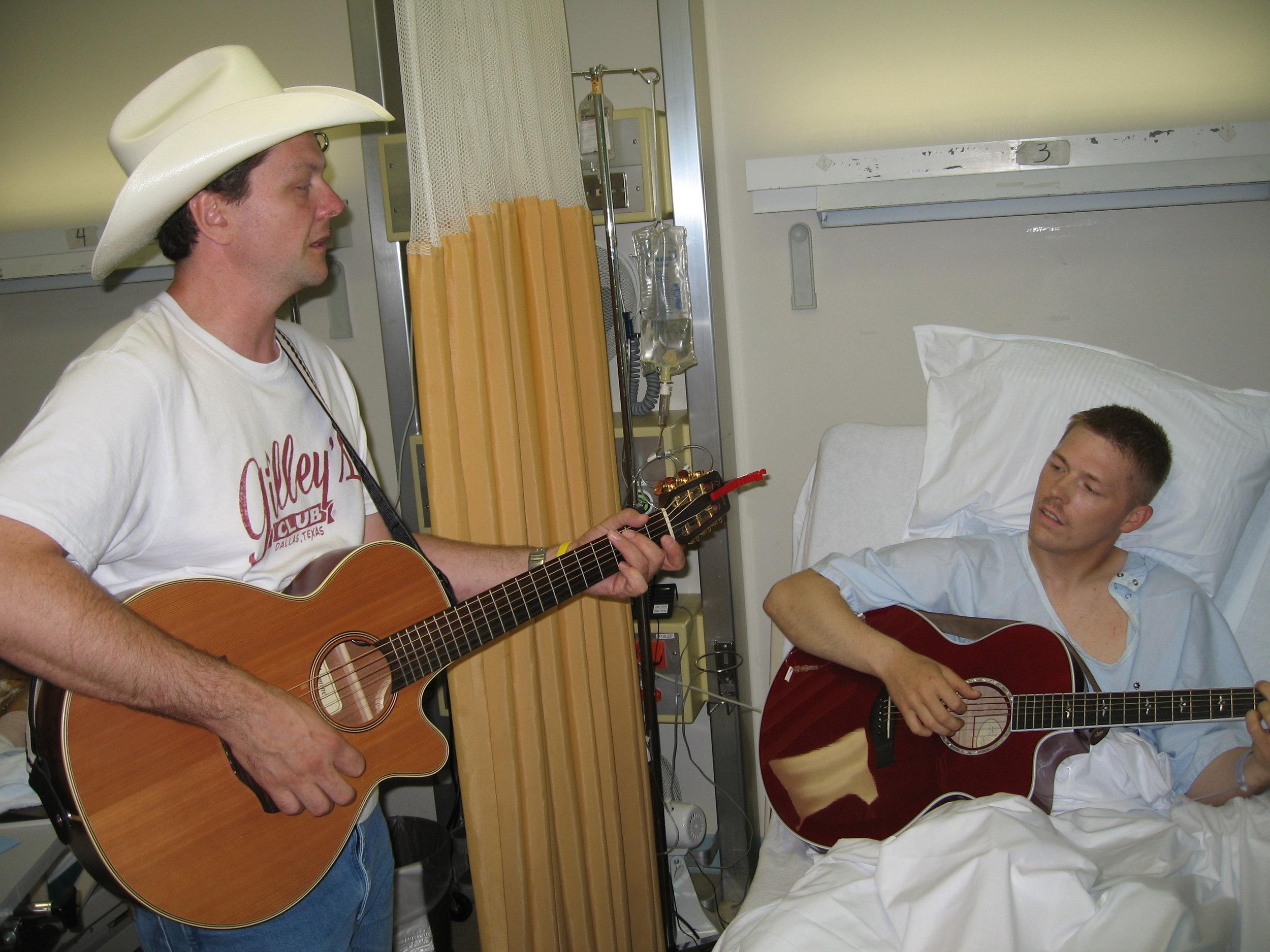Nashville hit song writer, Thom Shepherd and Josh Revak.JPG