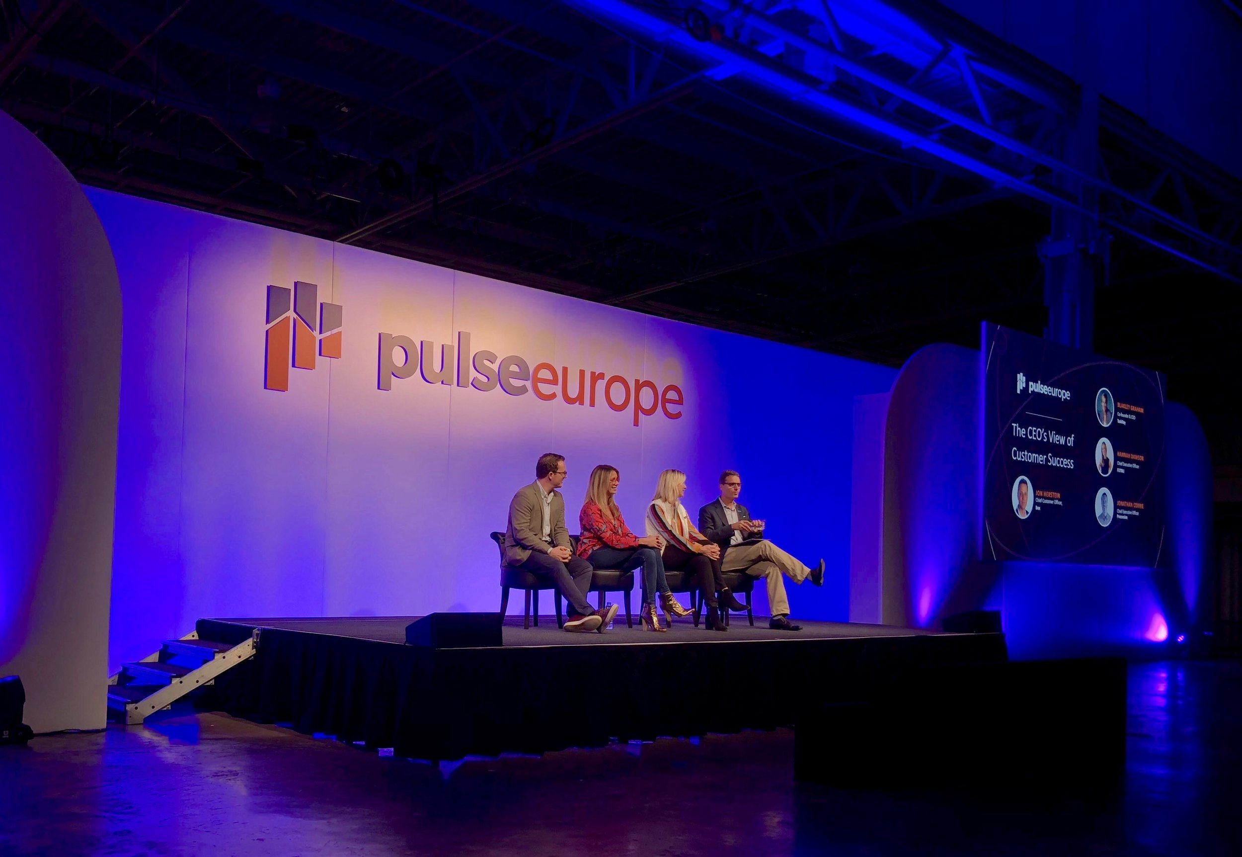 TaskRay CEO Blakely Graham sharing perspectives on Customer Success with the Pulse Europe audience.