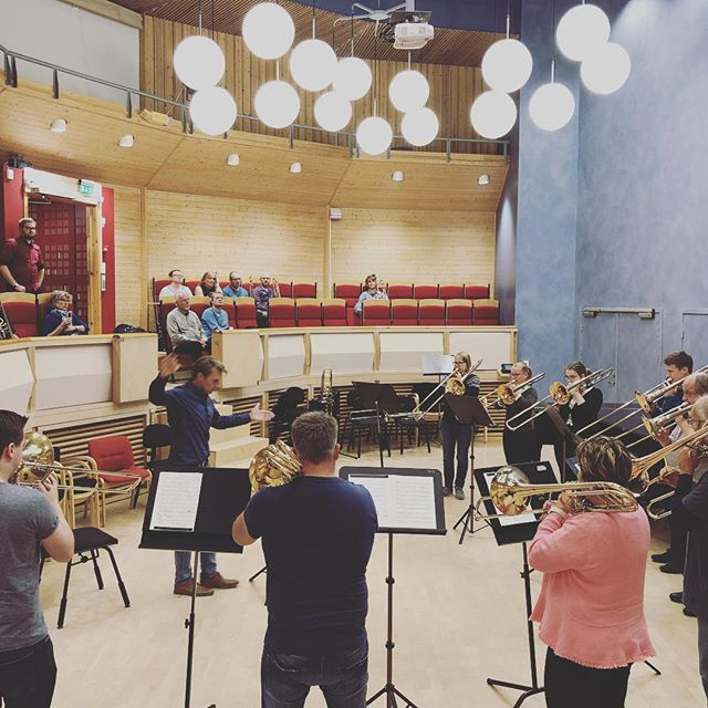 Finishing of this years trombonanaza with the ensembles showing of what they have been working at. #trombonefestival #arctictrombones #arctictrombones2018 #tromsø #georgecurran #håkanbjörkman #atf2018