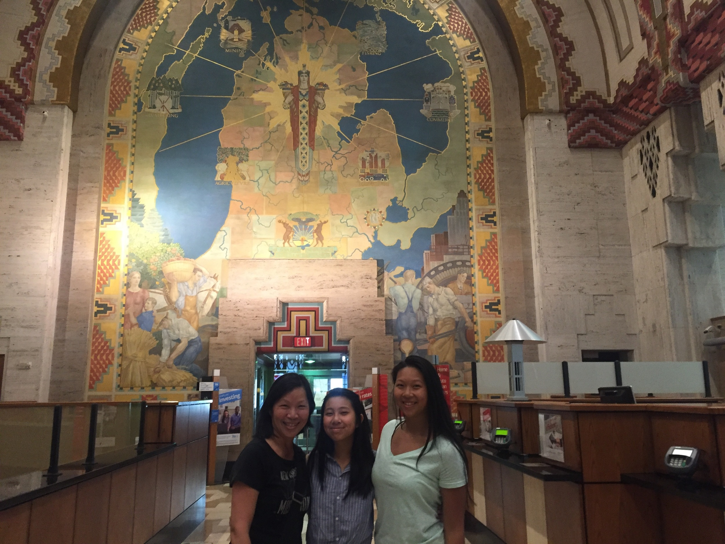 The Huang family joined us and enjoyed the Guardian Building.