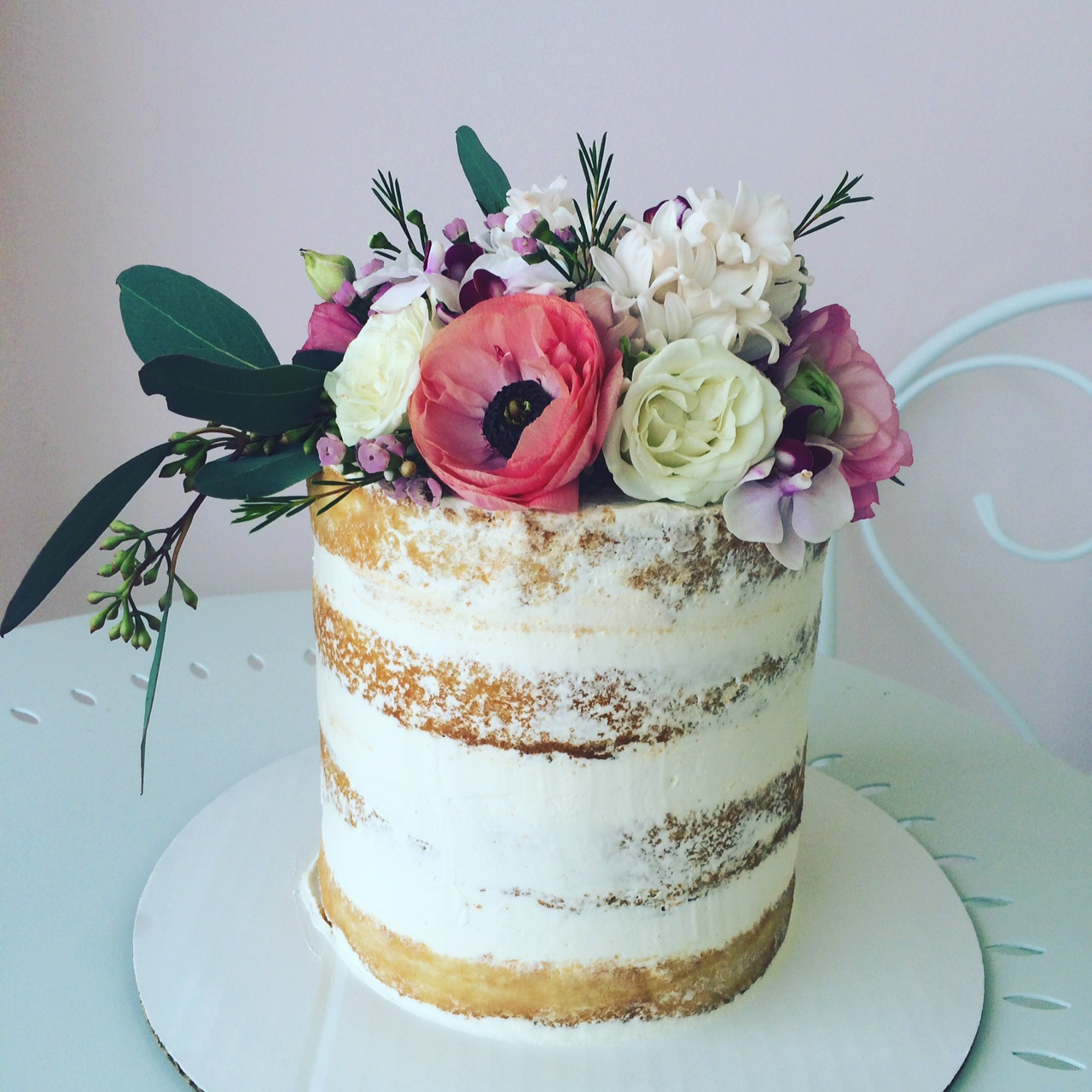 Baby Shower cake with florals.JPG