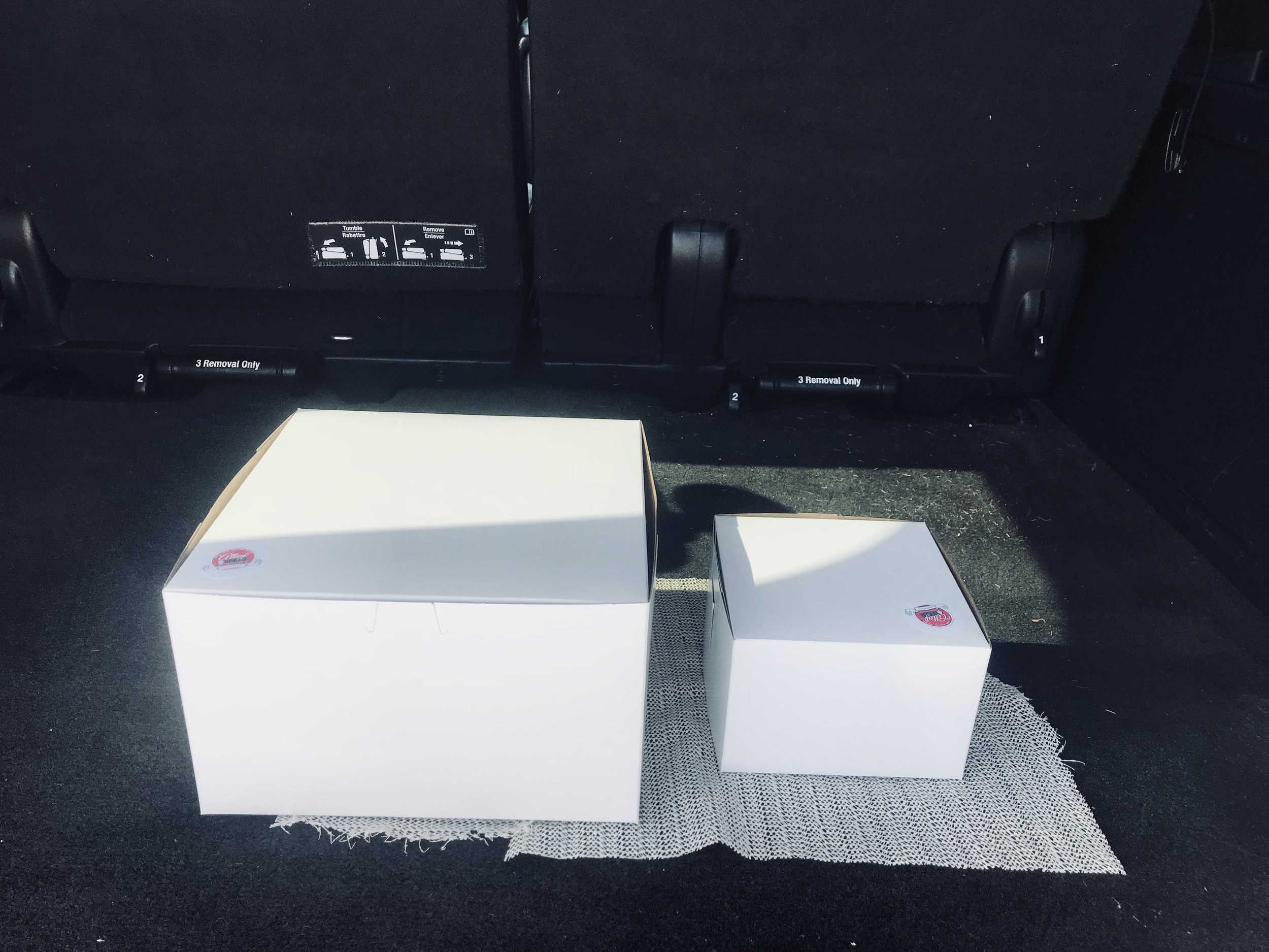 ITransporting Cake in Car