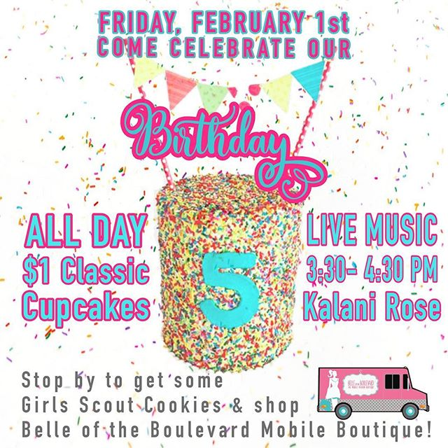 I've been getting you ready with all the memories this week in my story, but Friday is the day! It's our 5th Birthday!! We will have $1 cupcakes ALL DAY! We have some amazing ladies coming to celebrate with me too! Can't wait to see you and for you to see the new retail space!! #alleycakes #madefromscratch #beachesdessertplace #madewithlove #backtobasics #dowhatyouloveforyou #handmadesweets #sweettreats
