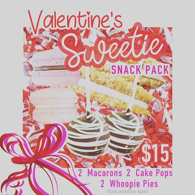 Need the perfect present for your sweetie?!? Make sure to preorder your Valentines Day Sweetie Snack Pack today!!! #alleycakes #beachesdessertplace #madewithlove #madefromscratch #sweetiesnackpack #valentinesday2019