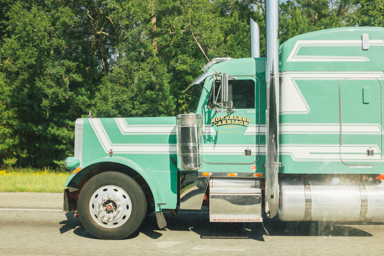If I were a trucker this would be my mighty steed. It's all done up in the color my mother painted our house when I was a kid. The same color my family adopted as our own.  It's nostalgia and horsepower and the open road. All things I love and respect.