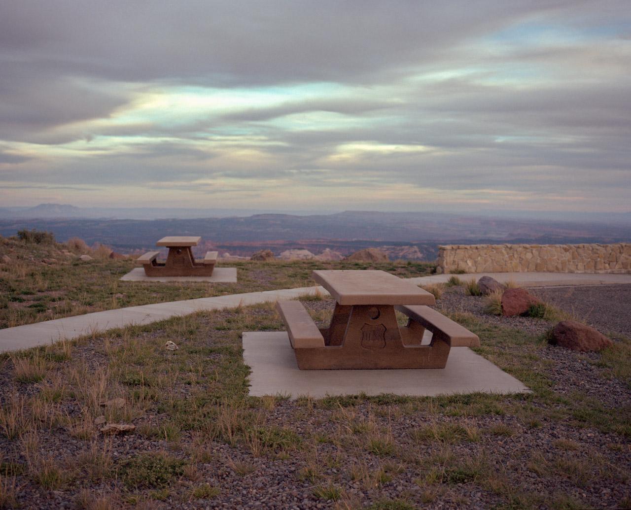Picnic Bench. Somewhere in Utah. October 2013