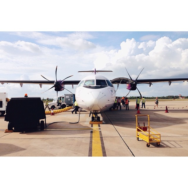 Nice props. #turboprop #puddlejumper #madeit #canbodia #angkor #siemreap (at FCC Angkor Siem Reap Airport)
