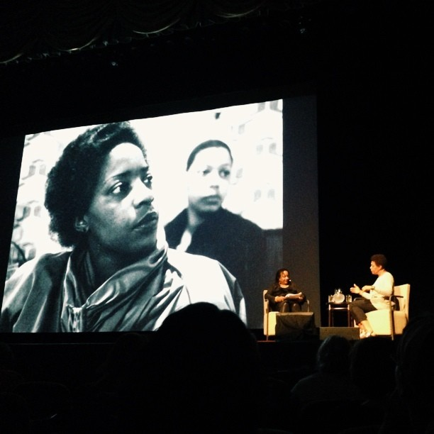 Carrie Mae Weems speaks at the #look3festival. I'll be shooting for @pdnonline  over the next three days. Check me out over there!