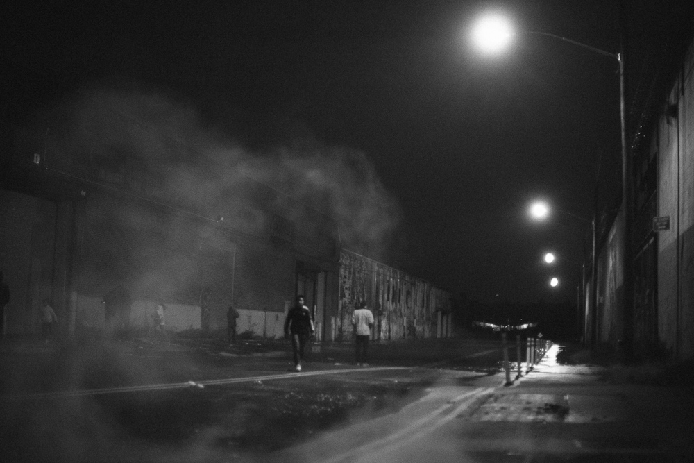 Steam on on India Ave. Hurricane Sandy. Greenpoint. Brooklyn.