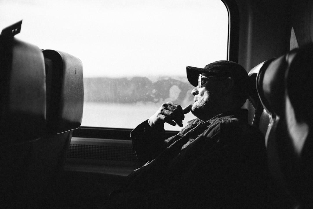 Asleep on the Metro North. October 2012.