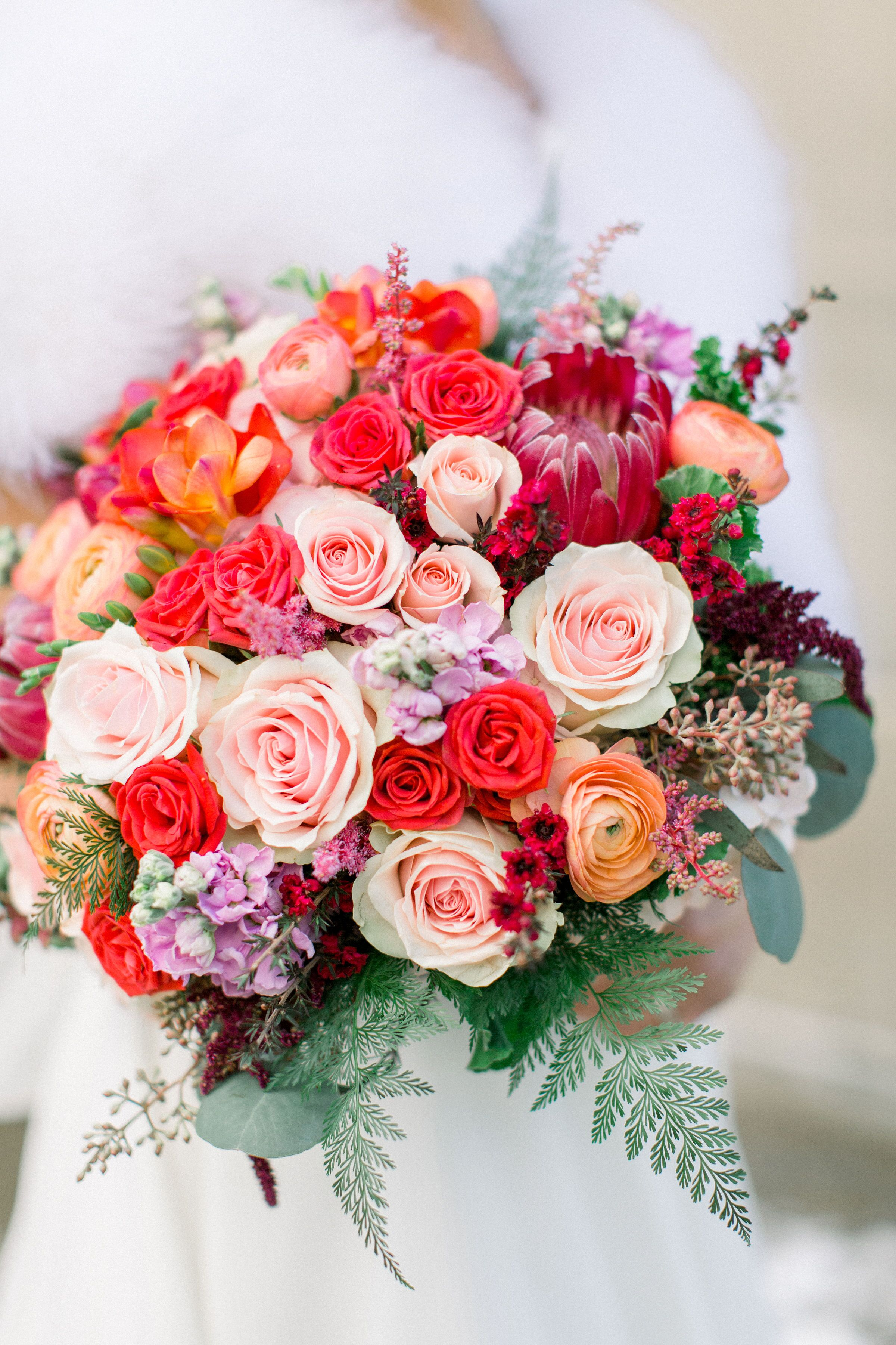 Colorful Winter Wedding