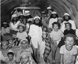 Yeminite Jews returning to Israel as part of Operation Magic Carpet in 1949