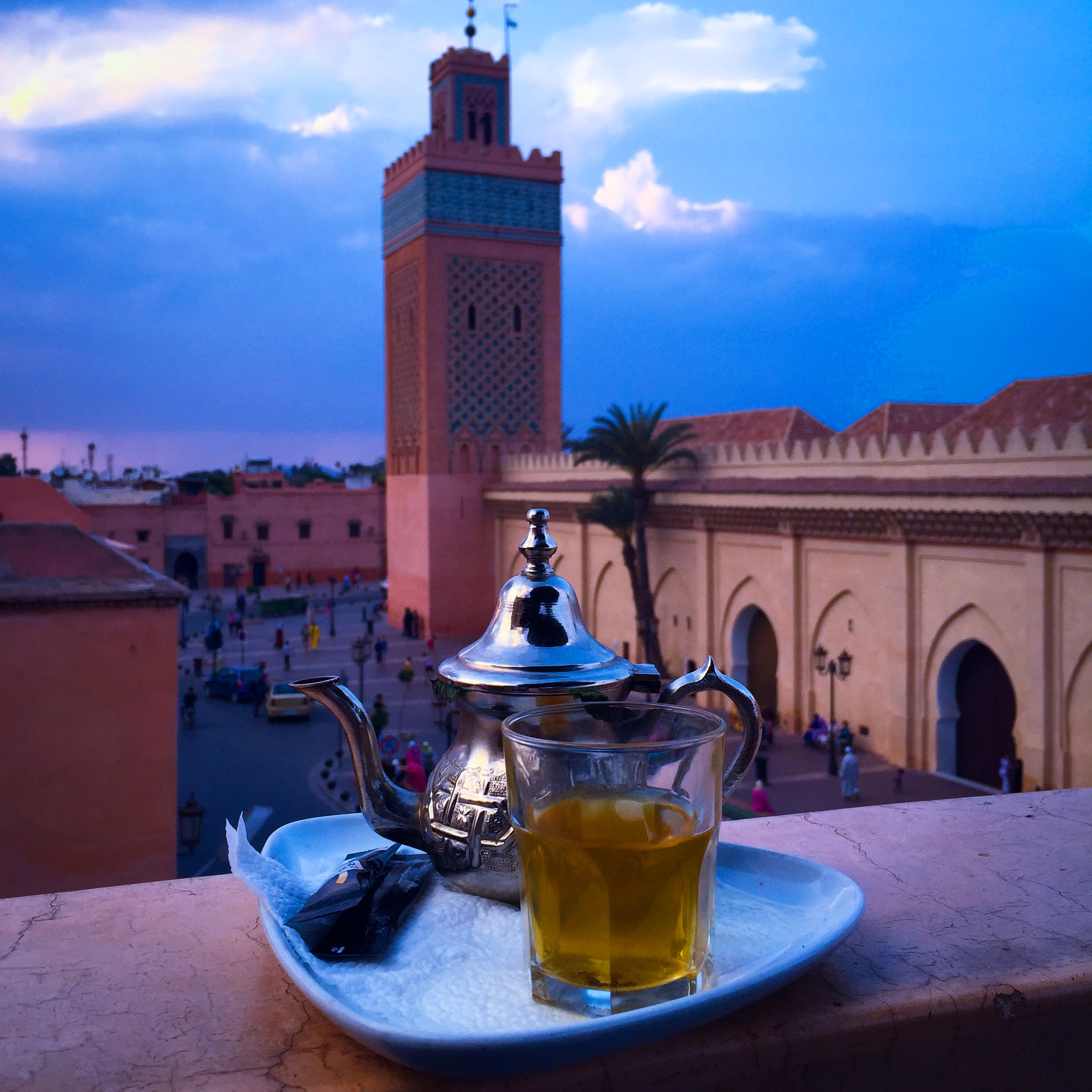 Afternoon Moroccan tea in Marrakech
