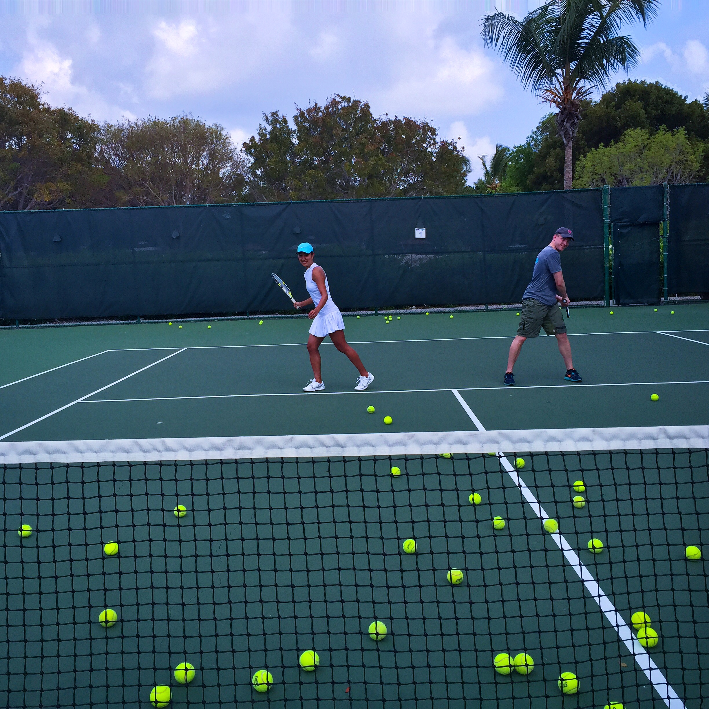 Tennis lessons at  Beaches