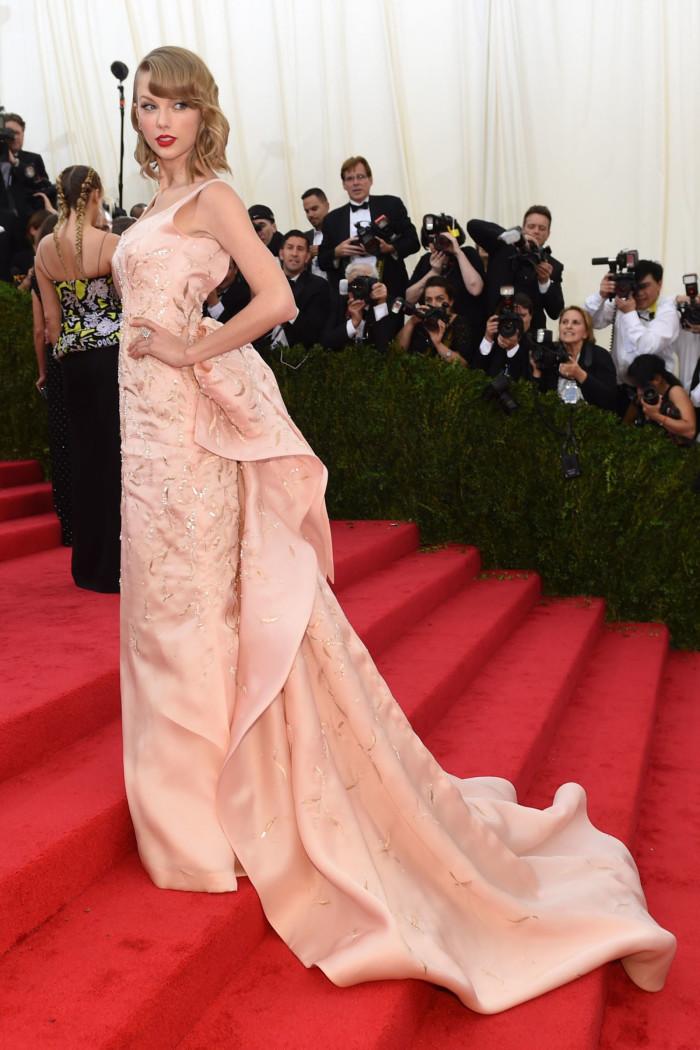 Image via Harpers Bazaar, Taylor Swift at the MET Gala