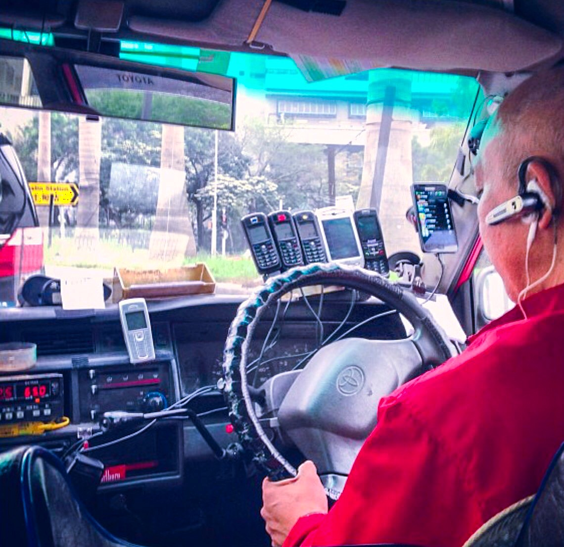 Hong Kong Taxi's are well connected