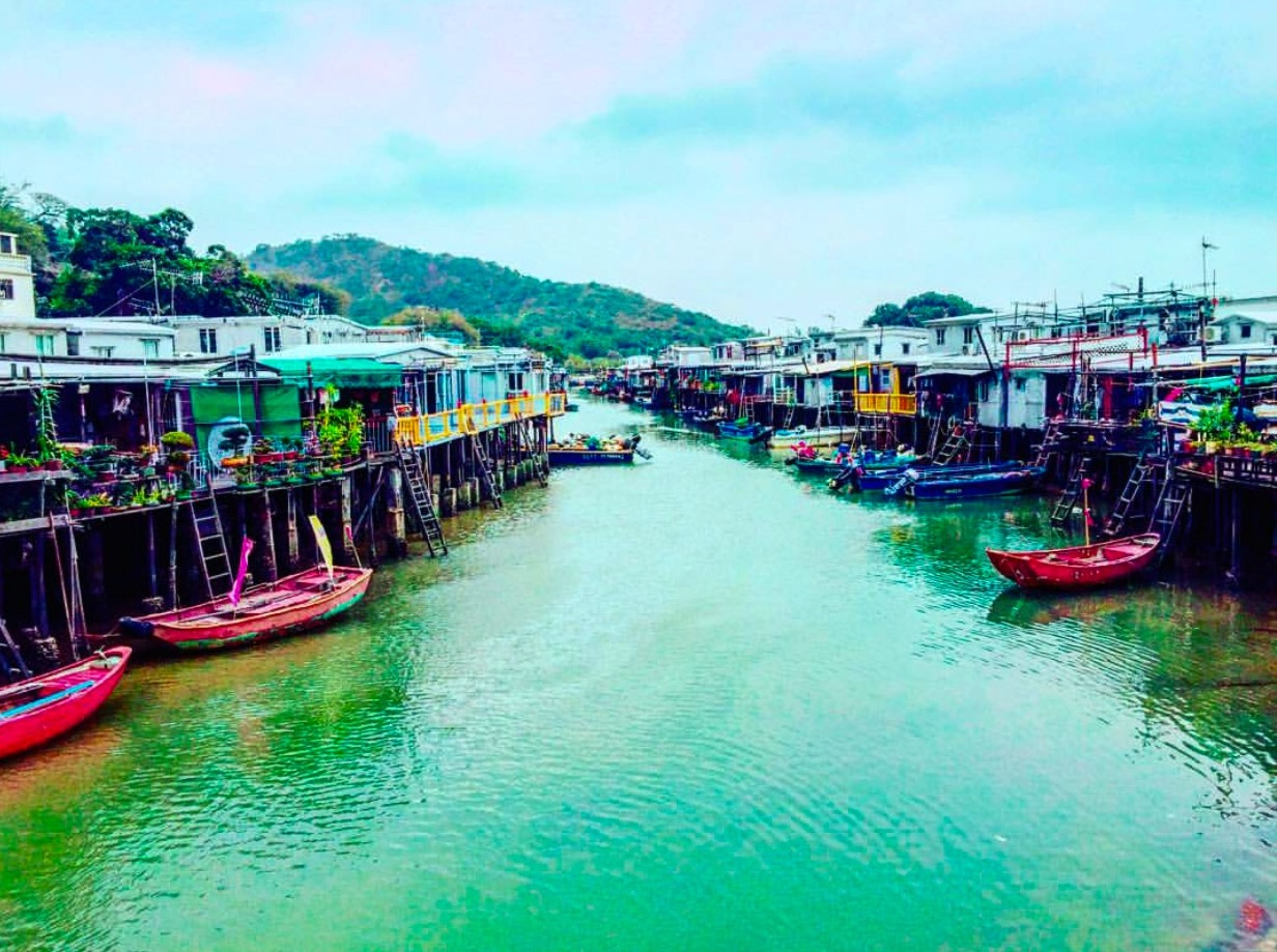 Colorful beauty of Tai- O Fishing Village