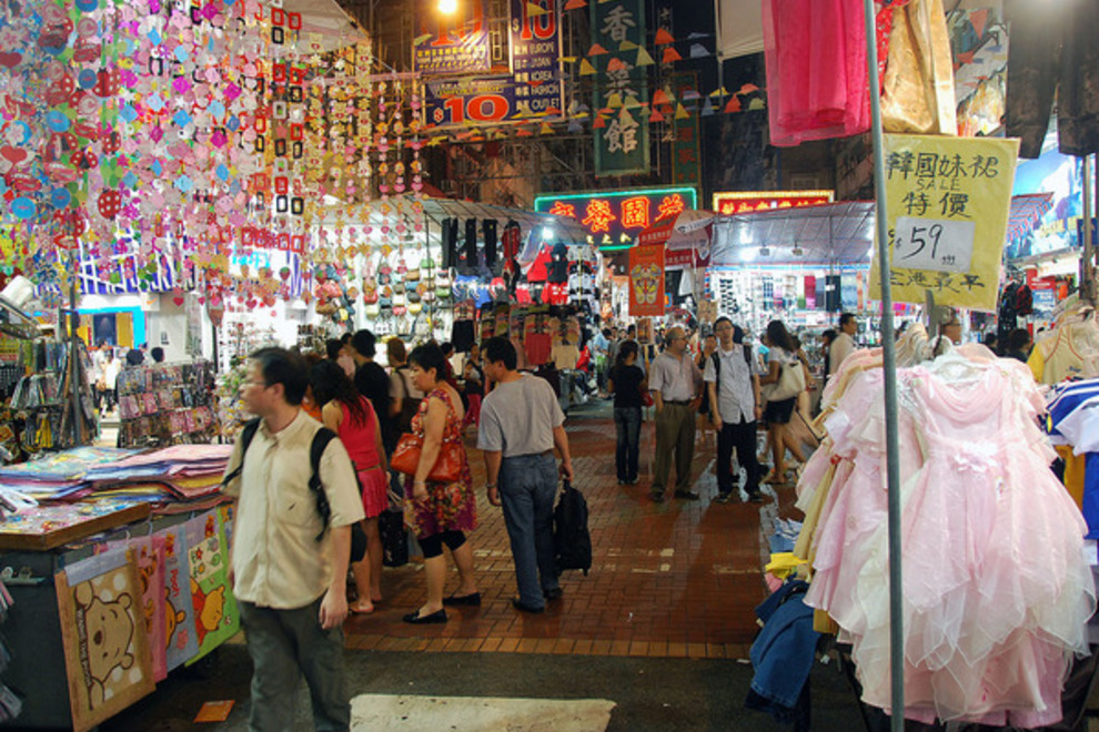 Ladies Market stalls, Kowloon