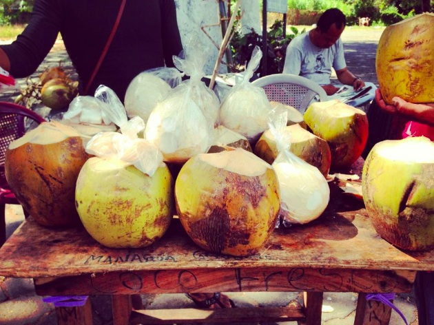 Fresh Coconut stands everywhere!