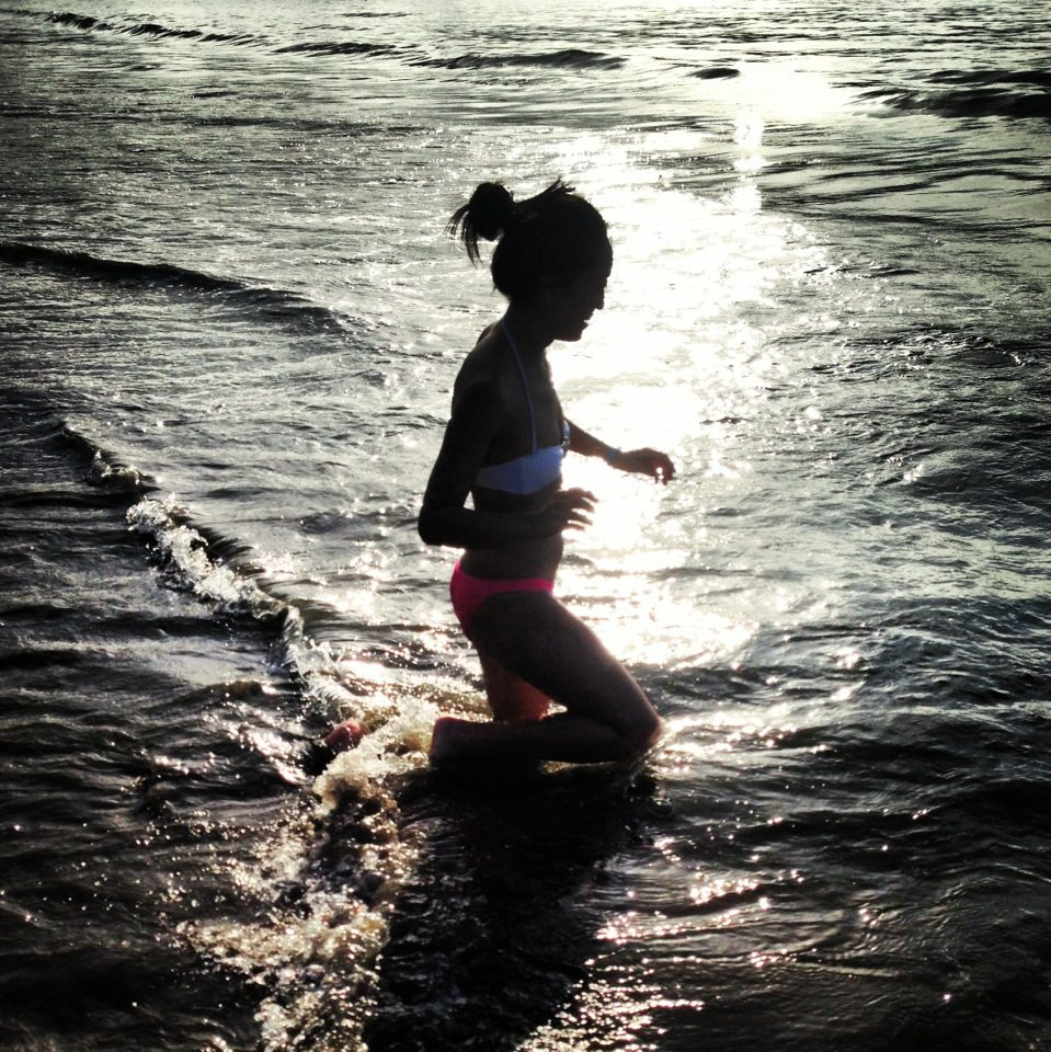 Being in the water around sunset is the absolute best!