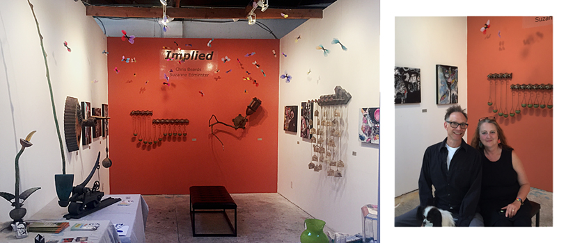 2016 - IMPLIED: Suzanne Edminster & Chris Beards at Blasted Pop-Up Art Gallery.