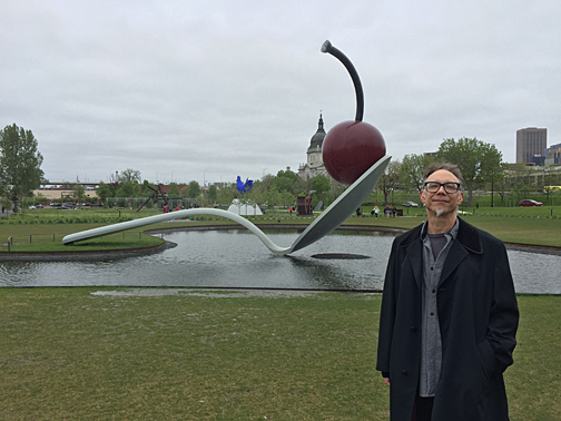 May 2019 - Obligatory tourist photo of 'Spoonbridge and Cherry' at Minneapolis Sculpture Park.