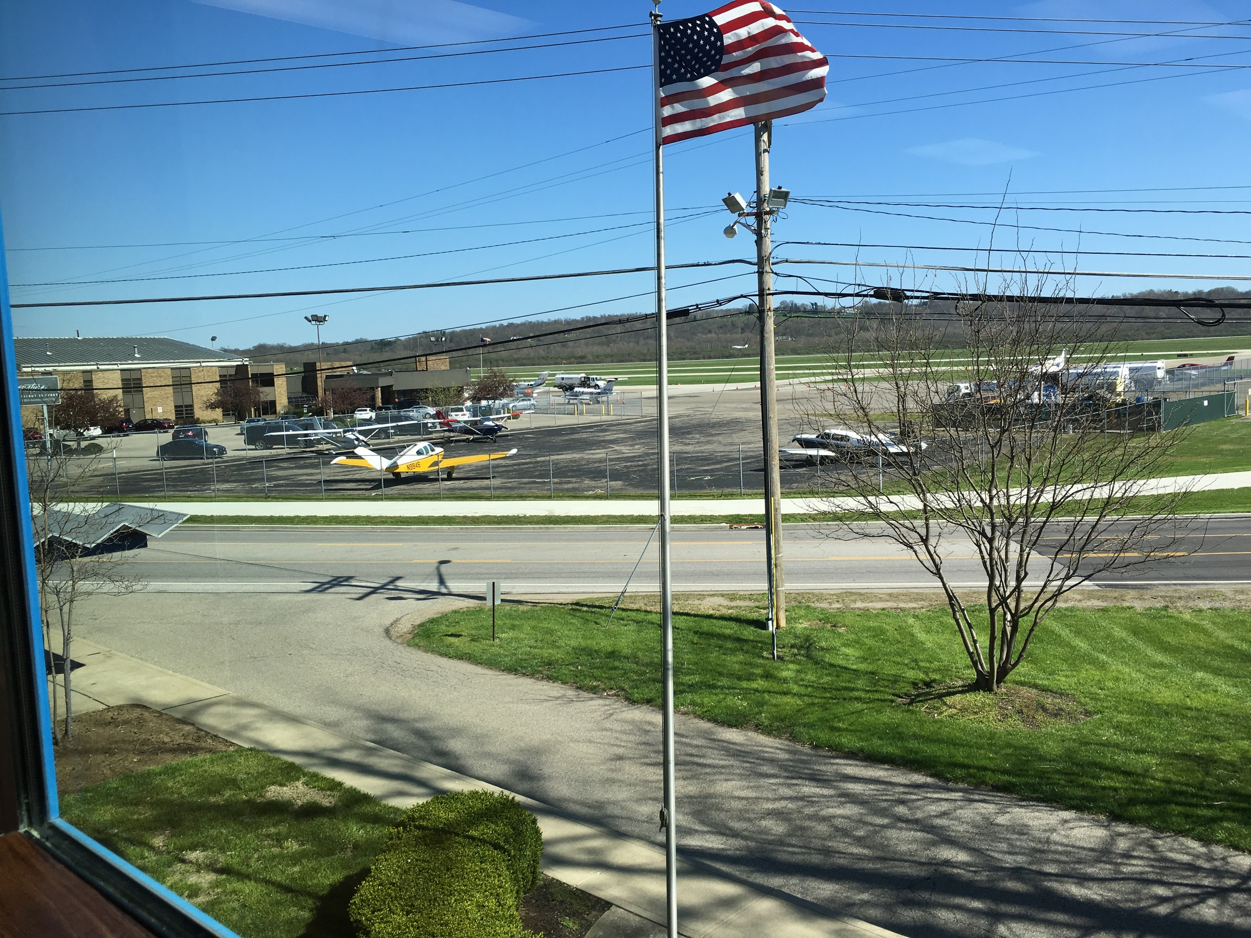 This suite has one of the best views of Lunken Airport.Watch planes take off all day while you work!