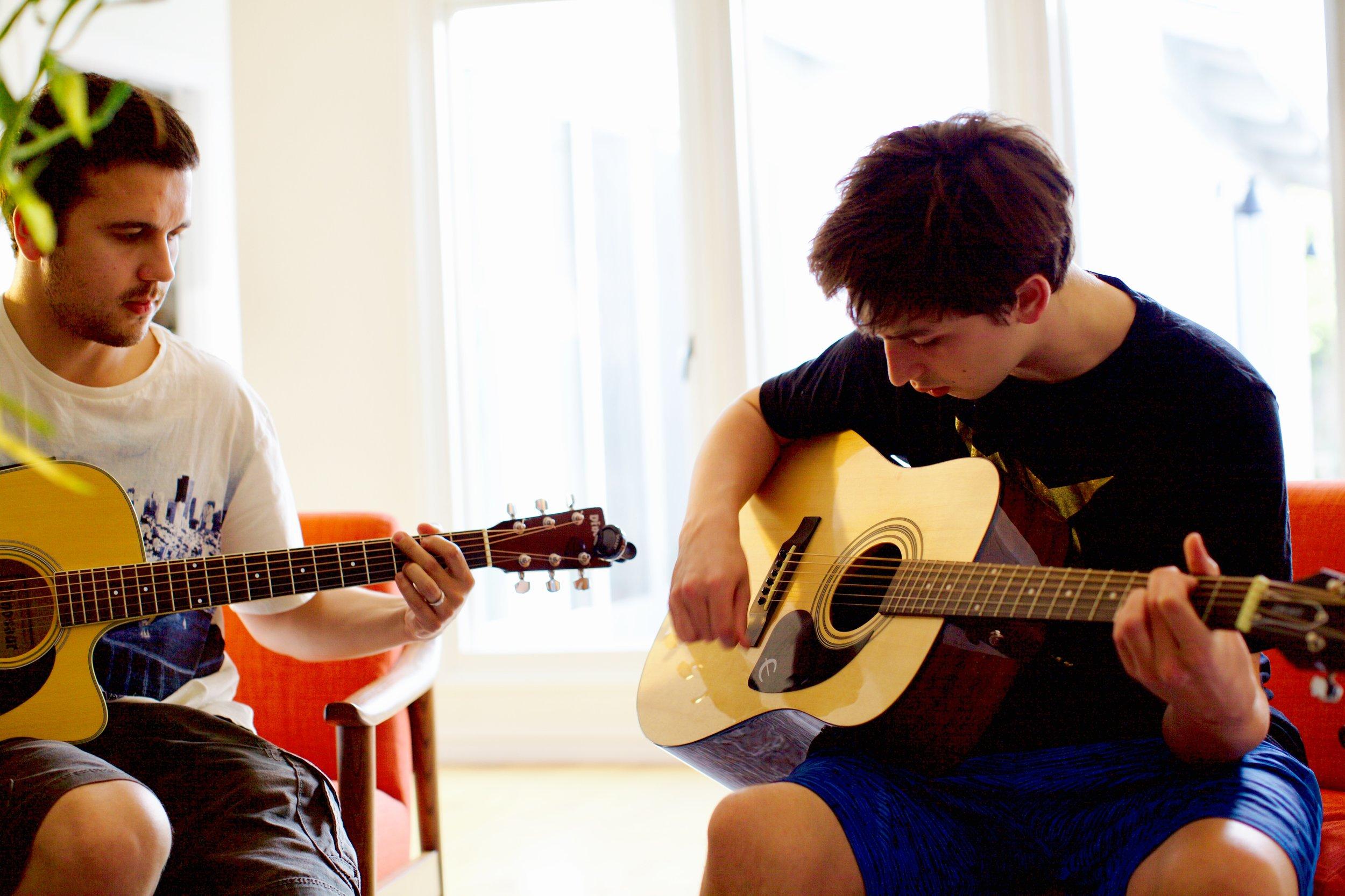 Sedat and Gabriel (age 13)