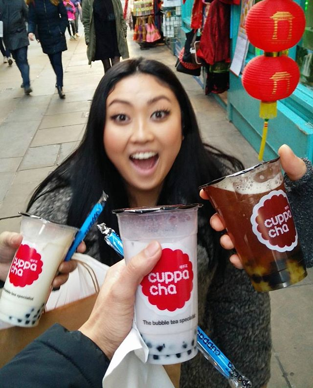Long weekend with Cuppacha PERFECT!! 🎈 🎉 🥤 🥤 🥤 . . . 📸great post by @johnnybiryani  #isholiday #bankholidaymonday #cuppachaday #cuppacha #london #sheffield #bubbletea #londonbubbletea #leicestersquare #carnabystreet #coventgarden #chinatown #chinatownlondon #londoneat #londonist #londonbest