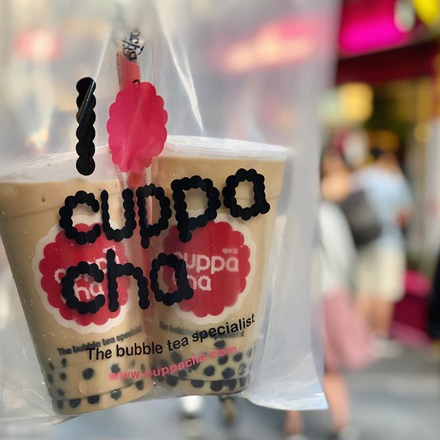 Cuppacha Pearl Milk to go 🛍🥤 🥤 . . . . #cuppacha #bubbletea #bubbletealondon #pearlmilktea #chinatown #chinatownlondon #timeoutlondon #eatlondon #londonsweet #londondessert #londonmusteat #foodporn #instafood