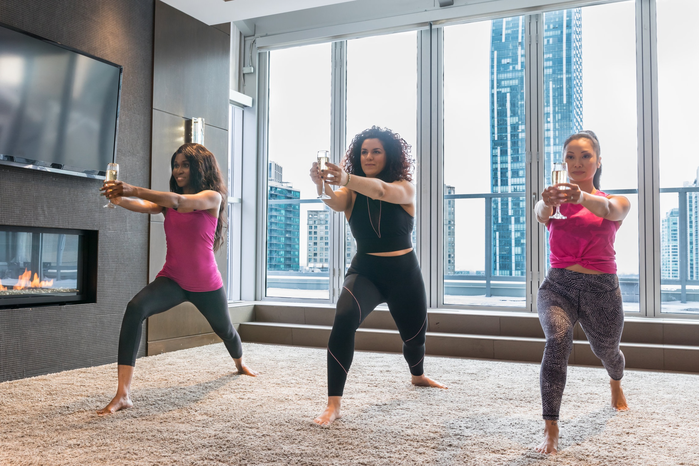 YOGA & CHAMPAGNE - TNCB has created the 1st yoga & champagne class in Toronto!
