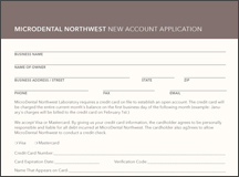 New Account Application