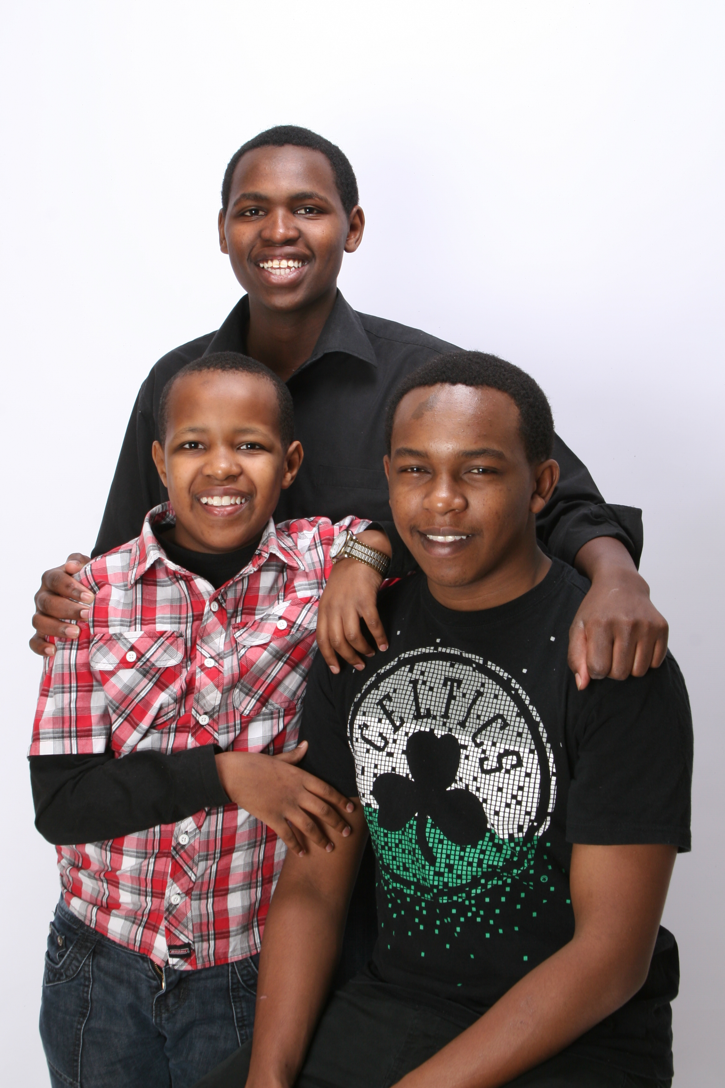 JOEMARK AND HIS BROTHERS JAMES (RIGHT) AND DANIEL (LEFT)