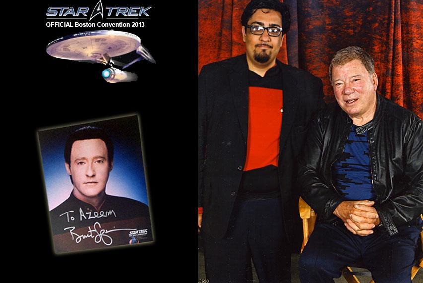 fazli azeem AT the Boston Star Trek Convention. (2013)