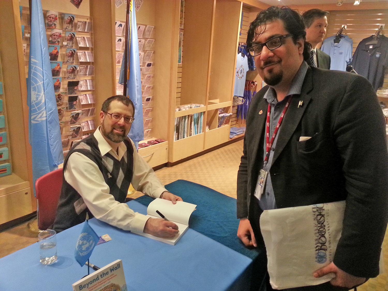 FAZLI AZEem with fellow autism self-advocate, Dr. Stephen SHore. (2013)