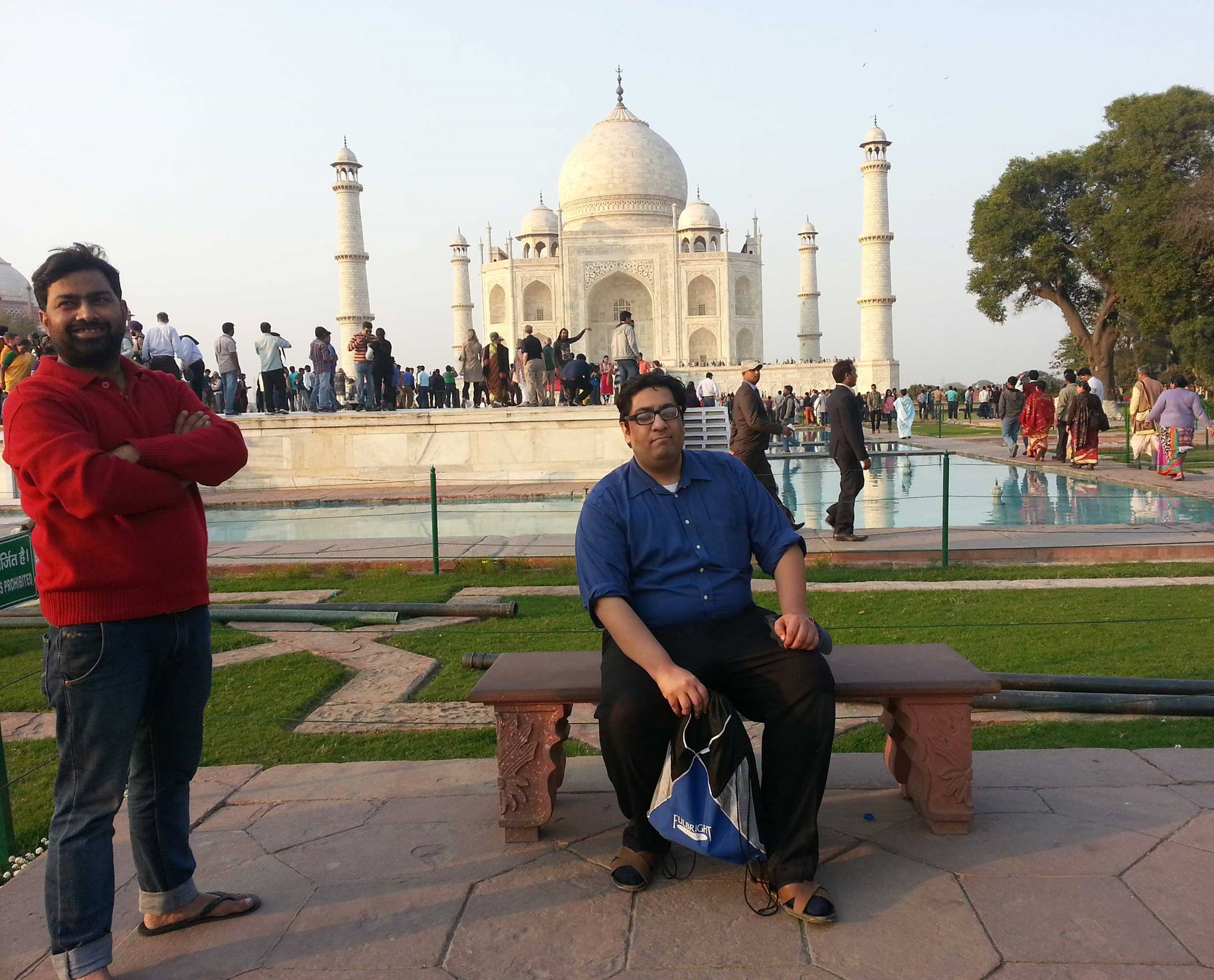 FAZLI AZEEM AT The taj mahal in india after the south asian autism conference. (2015)
