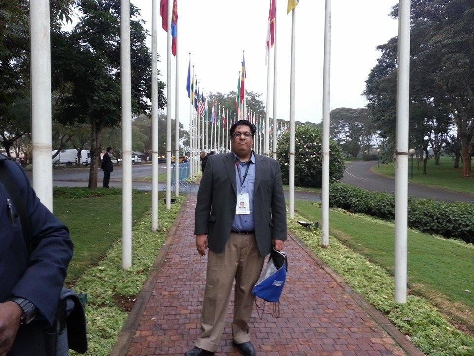 Fazli azeem at the United Nations Office in Nairobi, Kenya during The Global entrepreneurship Summit. (2015)