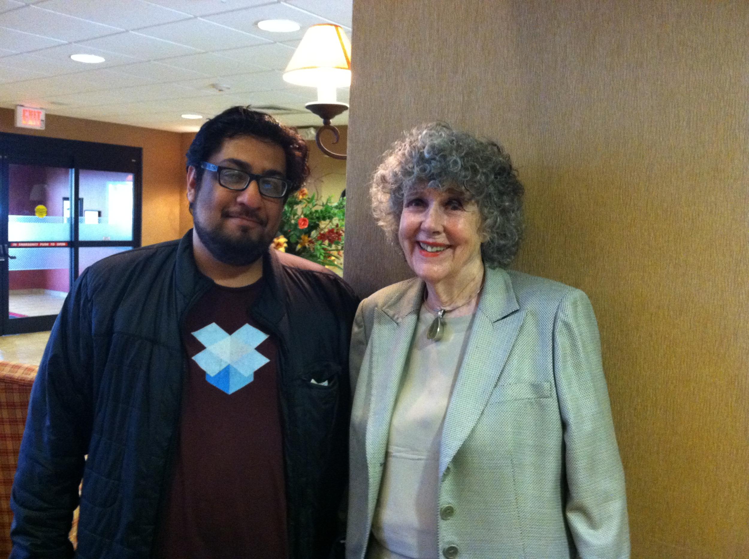 FAZLI AZEEM with Autism advocate Eustacia Cutler, mother of Autism self-advocate Dr. Temple Grandin. (2014)