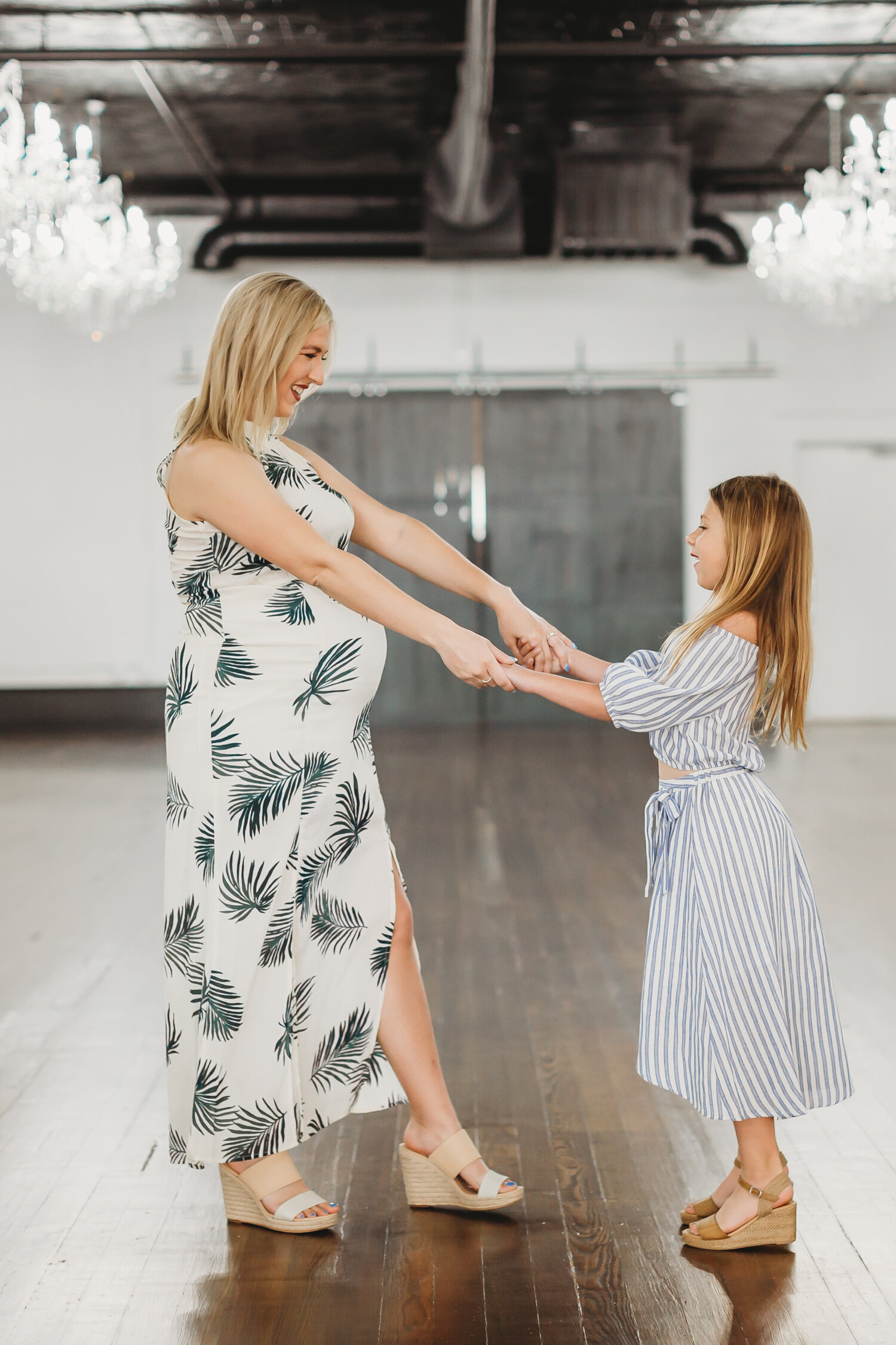 Dancing together and holding hands, this mother and daughter were so cute together #tealawardphotography #texasmaternityphotographysession #amarillophotographer #amarilloematernityphotographer #emotionalphotography #lifestylephotography #babyontheway #lifestyles #expectingmom #newaddition #sweetbaby #motherhoodmagic