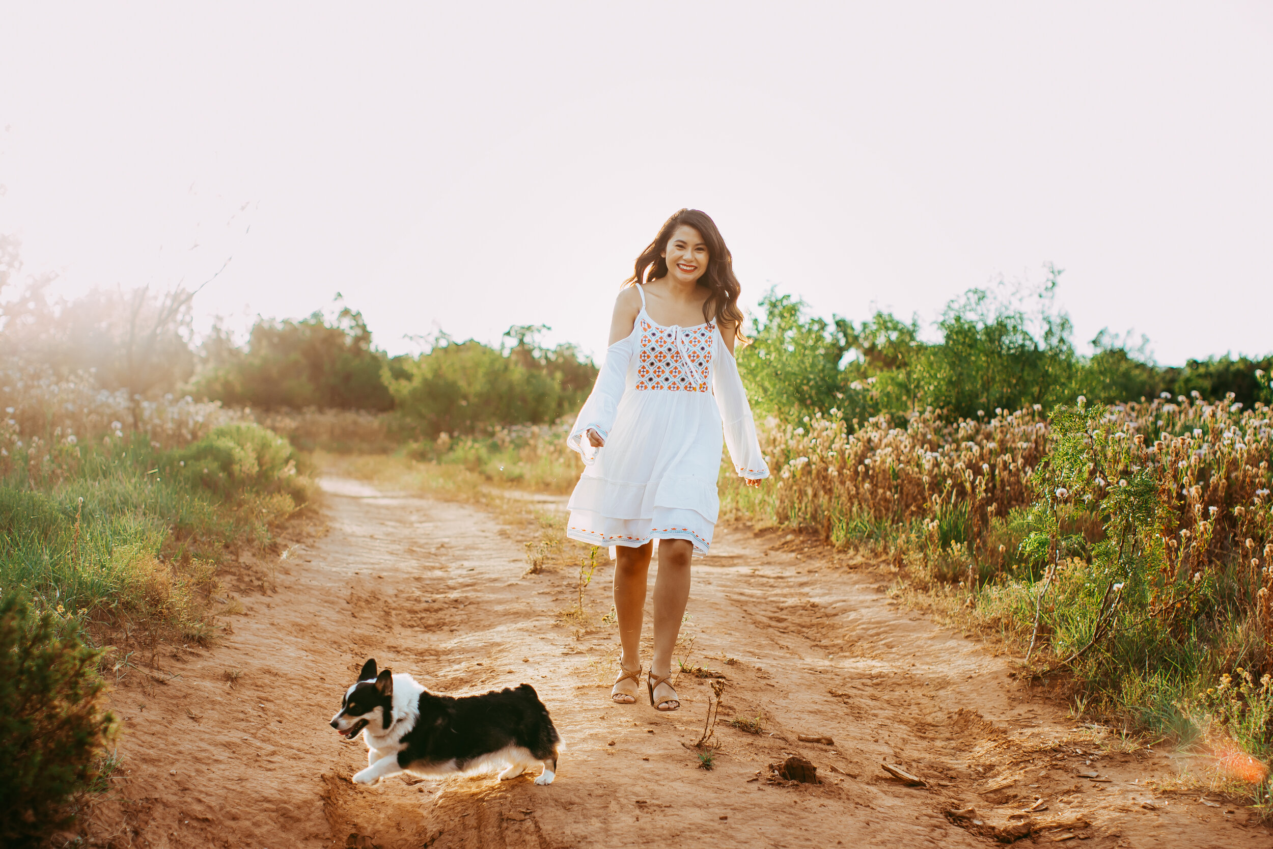 Walking down the path with her sweet puppy #tealawardphotography #texasphotographer #amarillophotography #amarillophotographer #lifestylephotography #emotionalphotography #photoshoot #family #puppylove #purejoy #puppyphotos #lifestyleinteraction