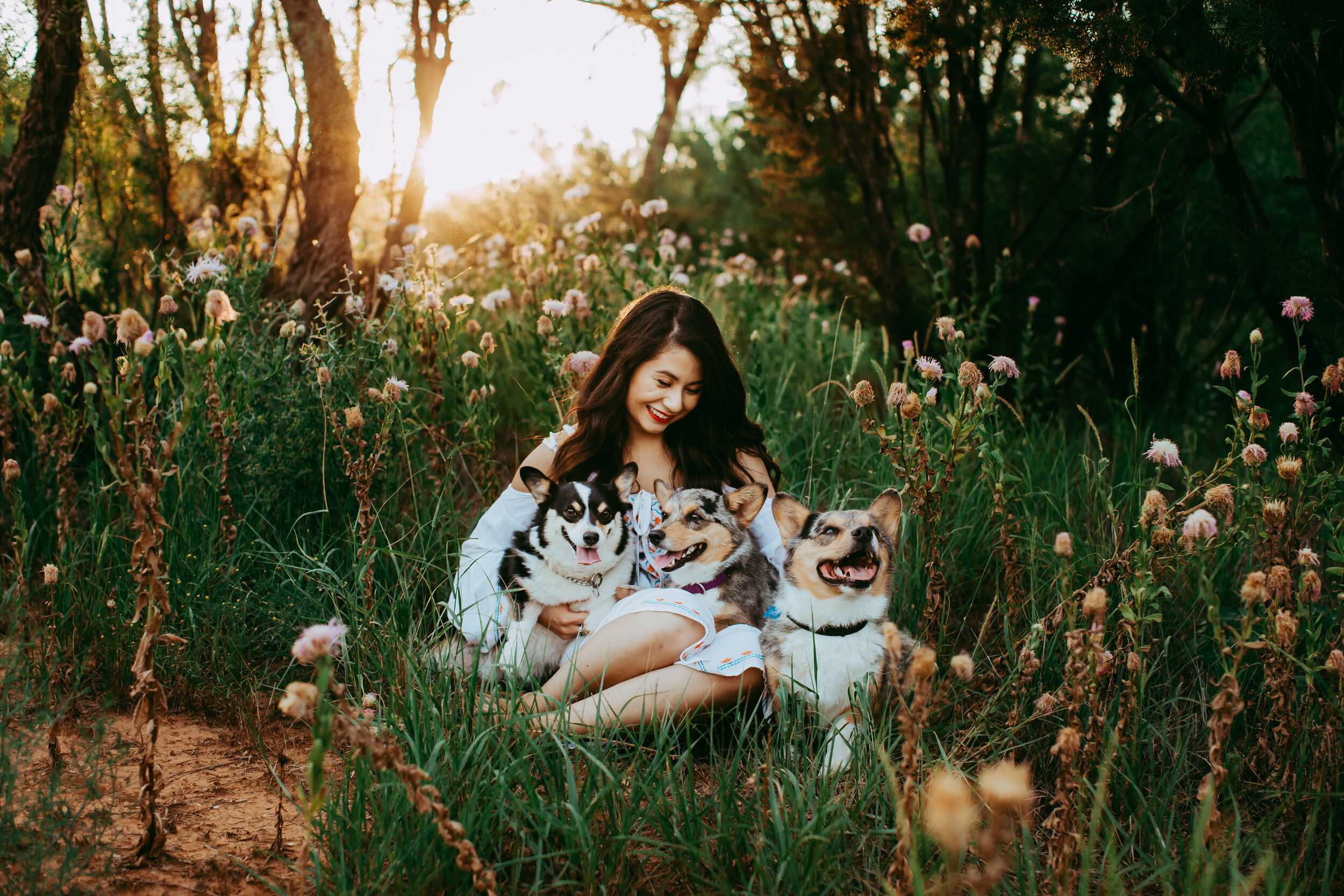 Natural unposed photograph with her puppies by her side #tealawardphotography #texasphotographer #amarillophotography #amarillophotographer #lifestylephotography #emotionalphotography #photoshoot #family #puppylove #purejoy #puppyphotos #lifestyleinteraction