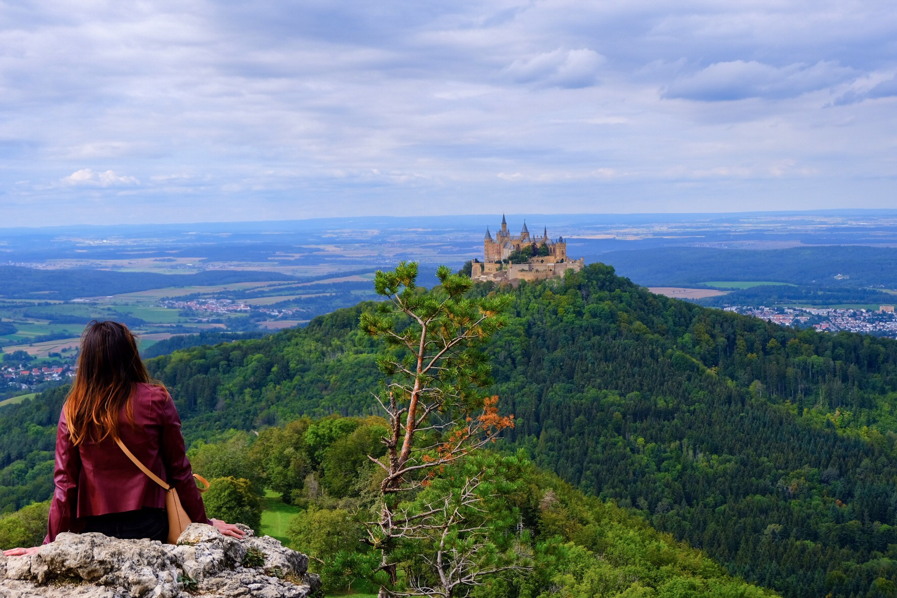 Zeller Horn with the view of Hohenzollern Castle