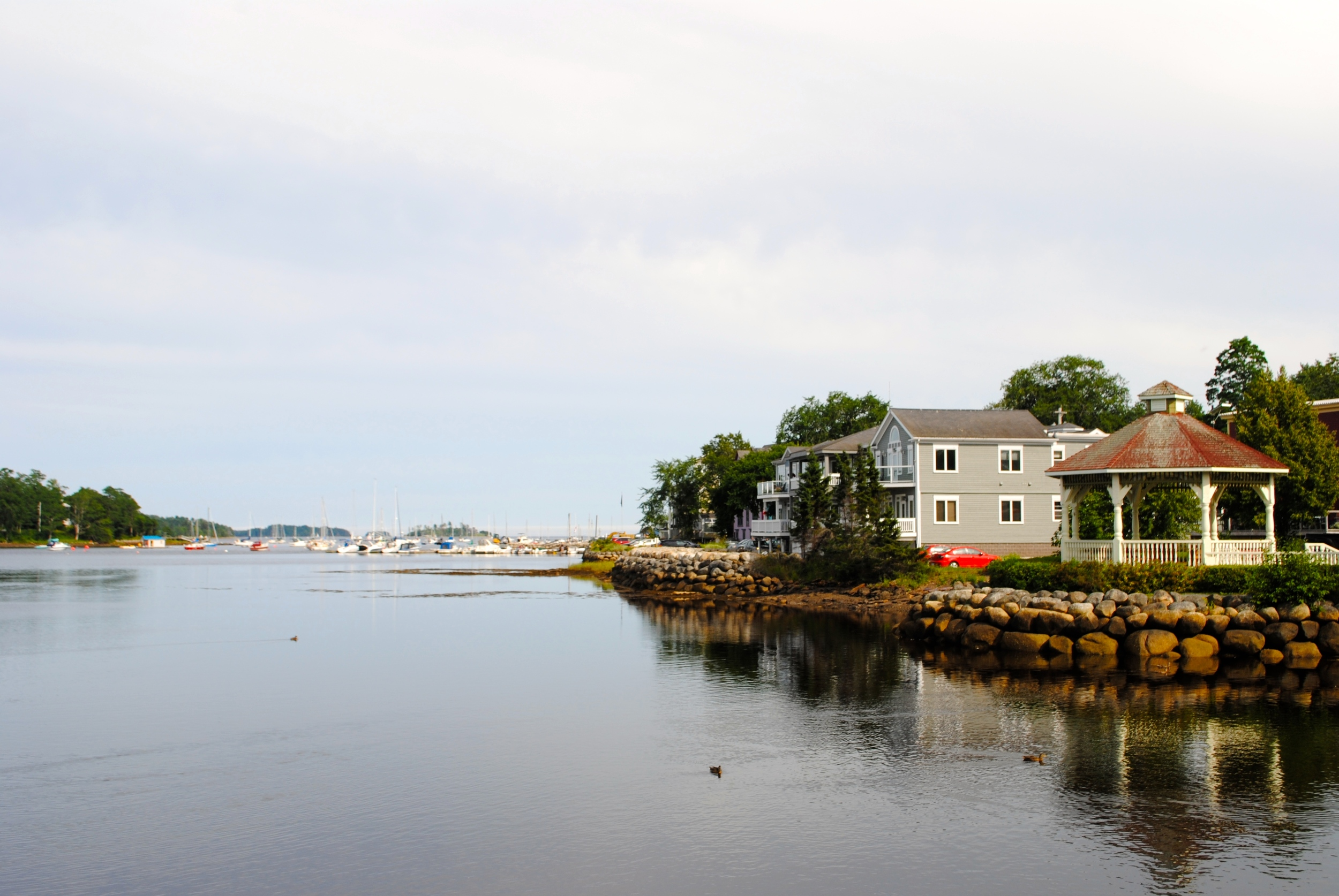 Afternoon hangouts in Mahone Bay.