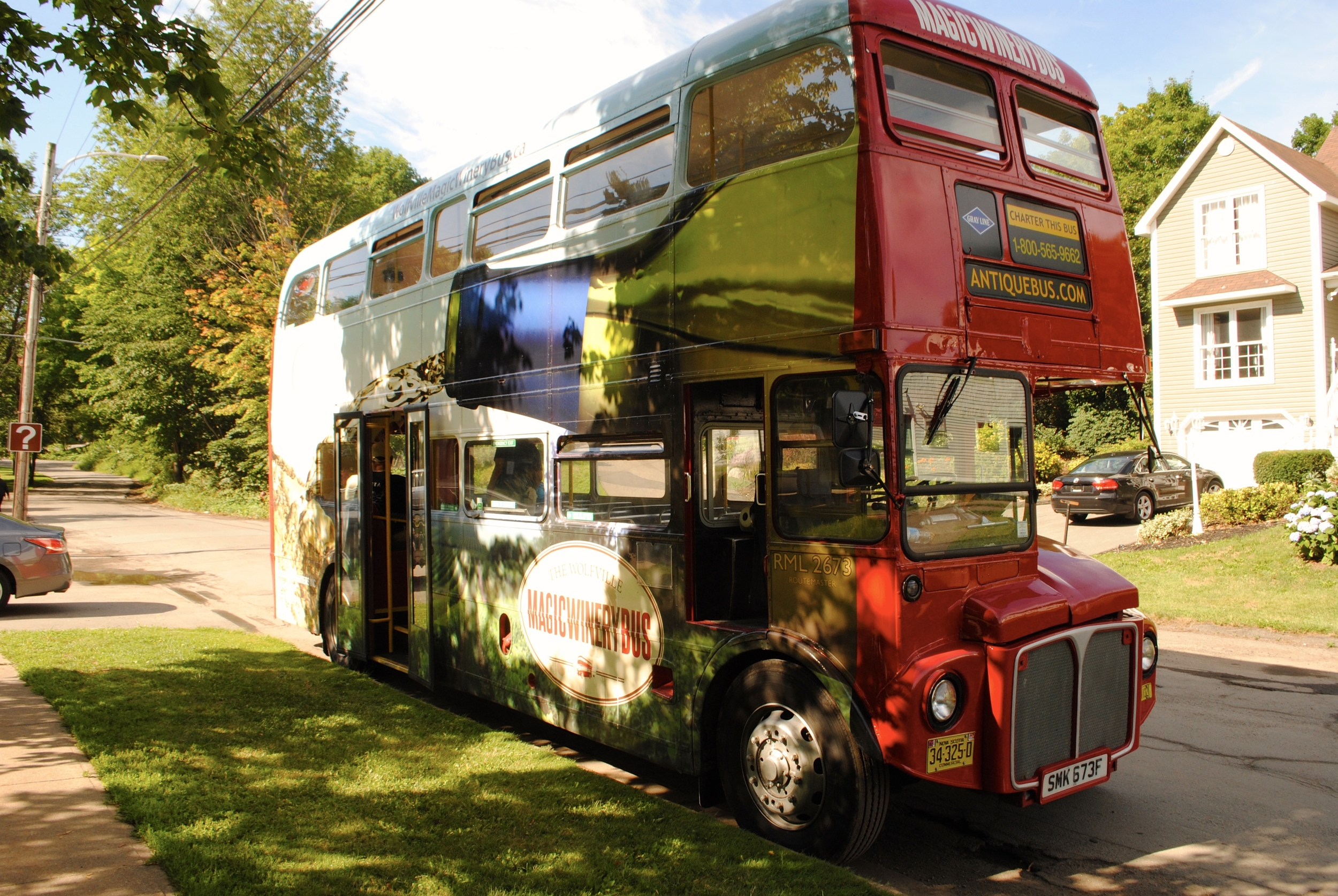 All aboard the Magic Bus Wine Tour!