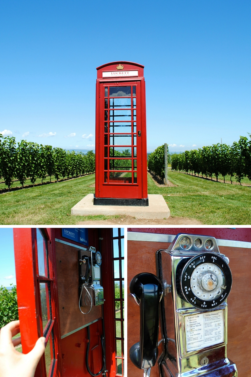 Drank some wine and made a call in an old fashion phone booth - drunk dial of the yesteryears!