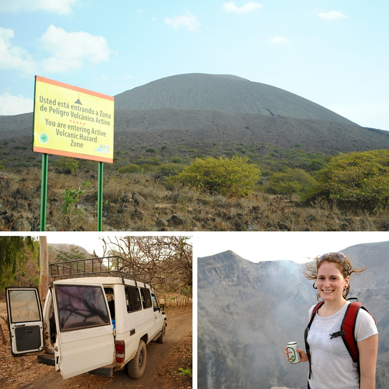 Twilight hike of Volcan Talica - hiking, sunsets and lava