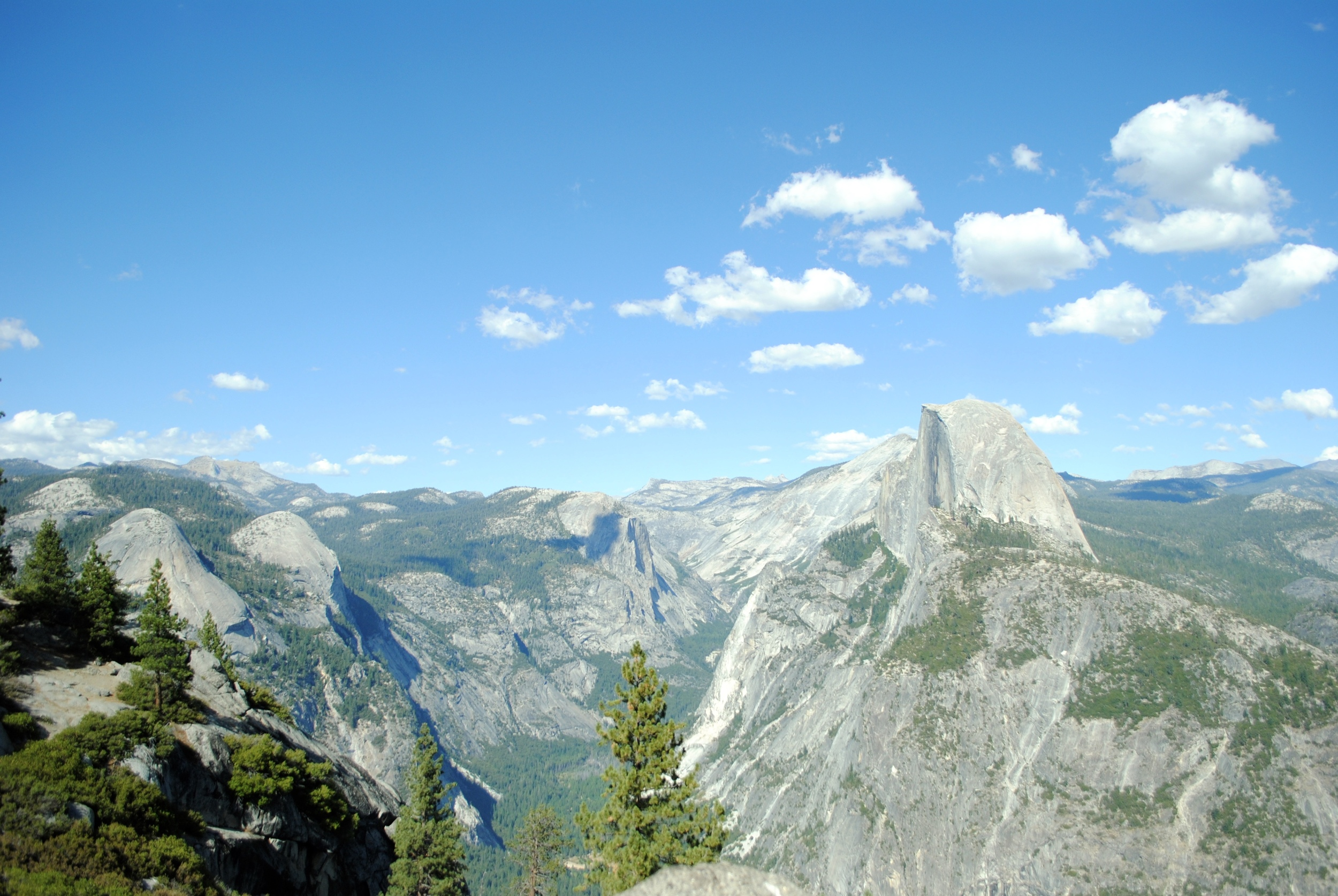 Views of Half Dome and the Yosemite Valley; a spectacular site!