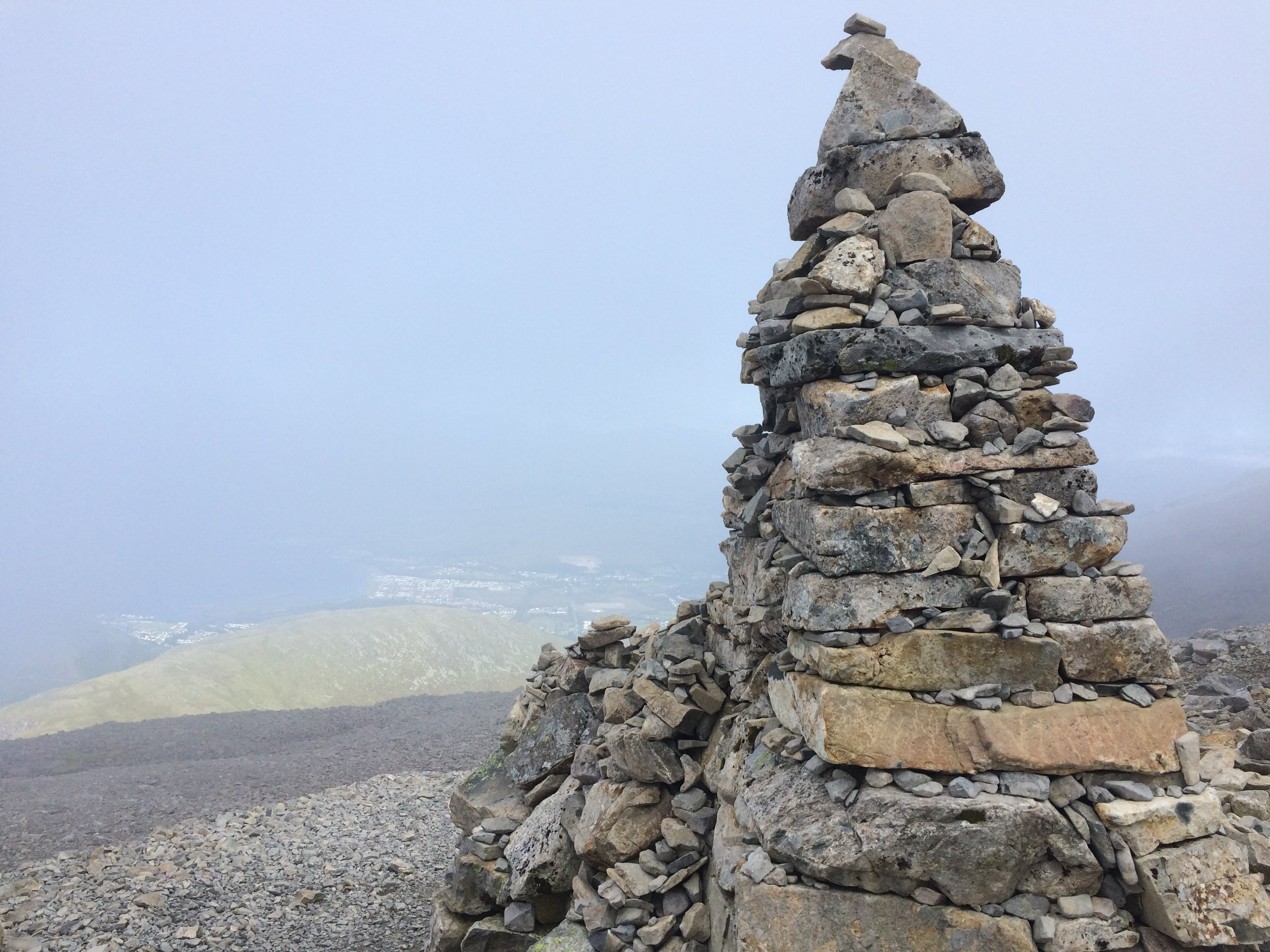 The first marker and my last photo on Ben Nevis - I got much too grumpy to care after this point...